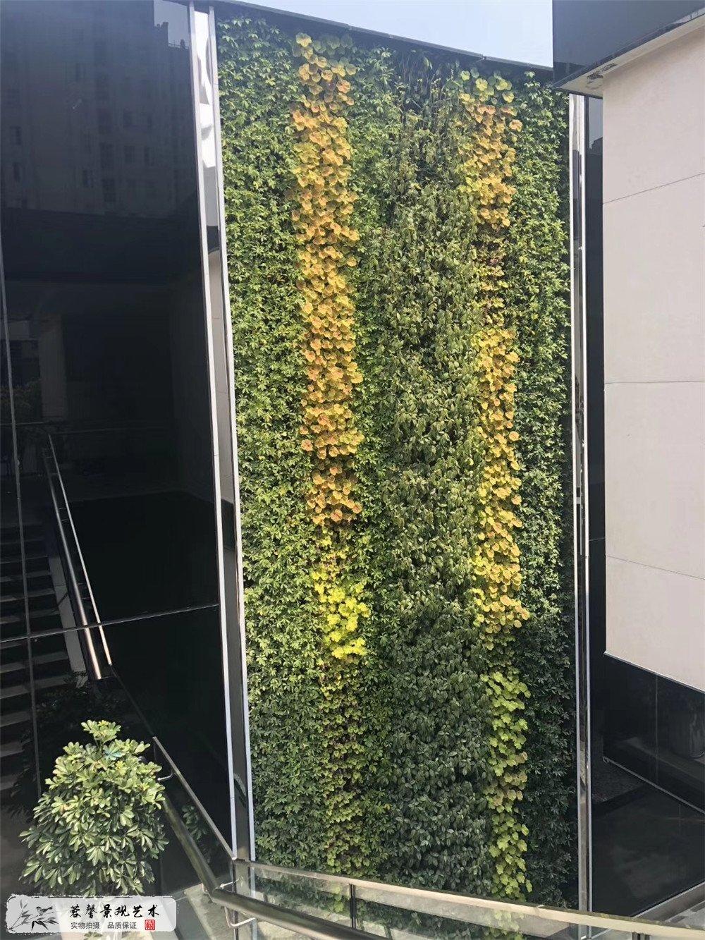 成都垂直绿化,誉峰IPC室外立体植物墙 (2)